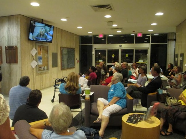 Overflow crowds attend Fullerton City Council meetings.